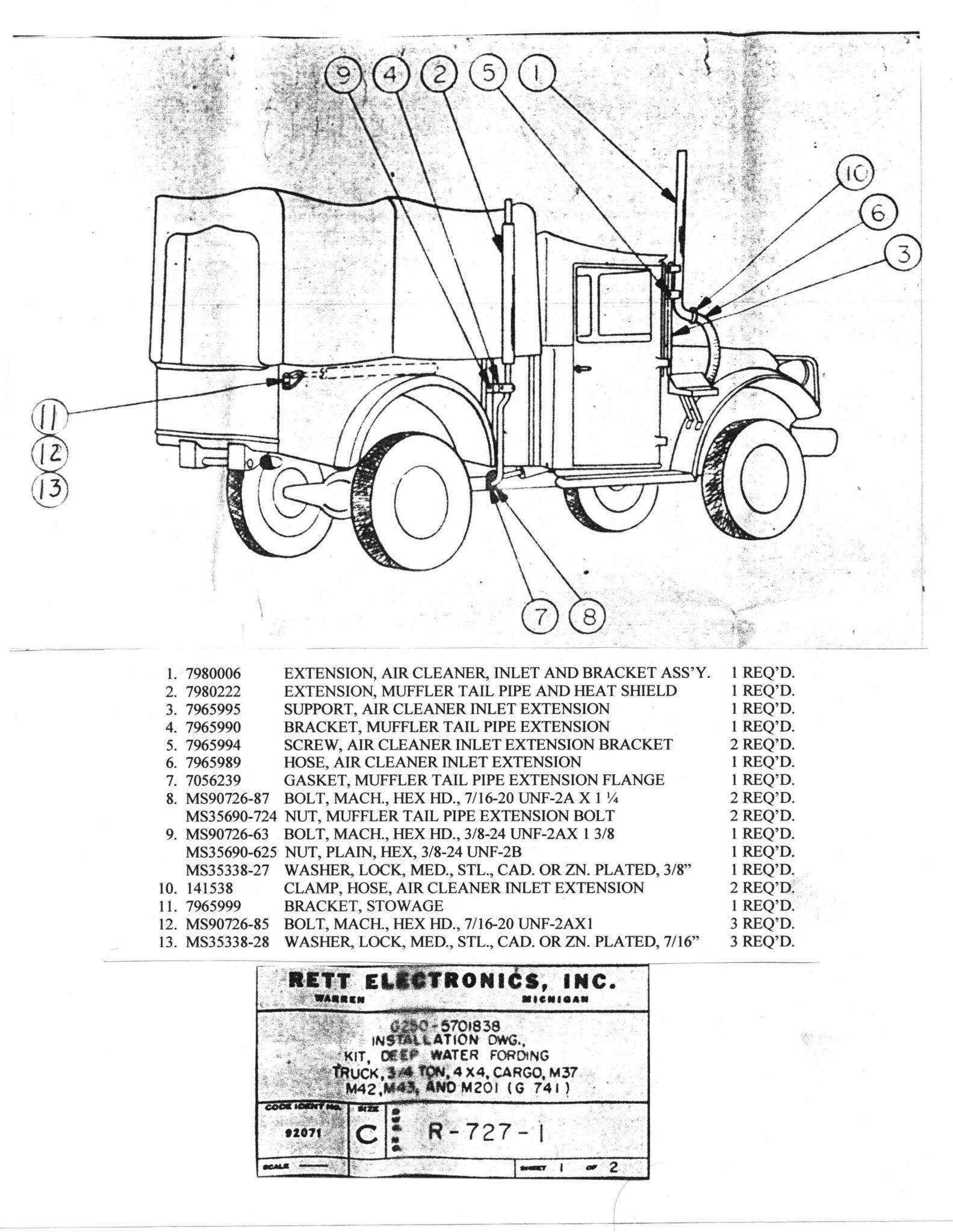 dodge m37 drawing